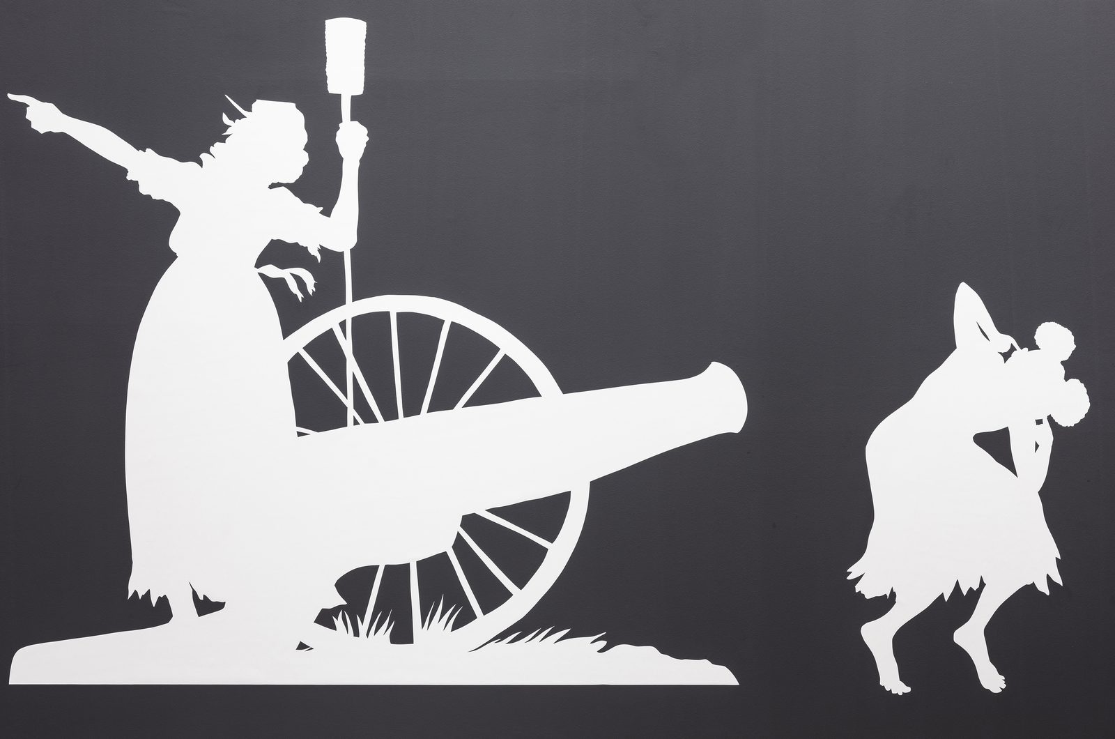 Detail, Kara Walker, THE SOVEREIGN CITIZENS SESQUICENTENNIAL CIVIL WAR CELEBRATION, Sprüth Magers, Berlin, 2020 Photography Timo Ohler Courtesy Sprüth Magers and Sikkema Jenkins & Co.