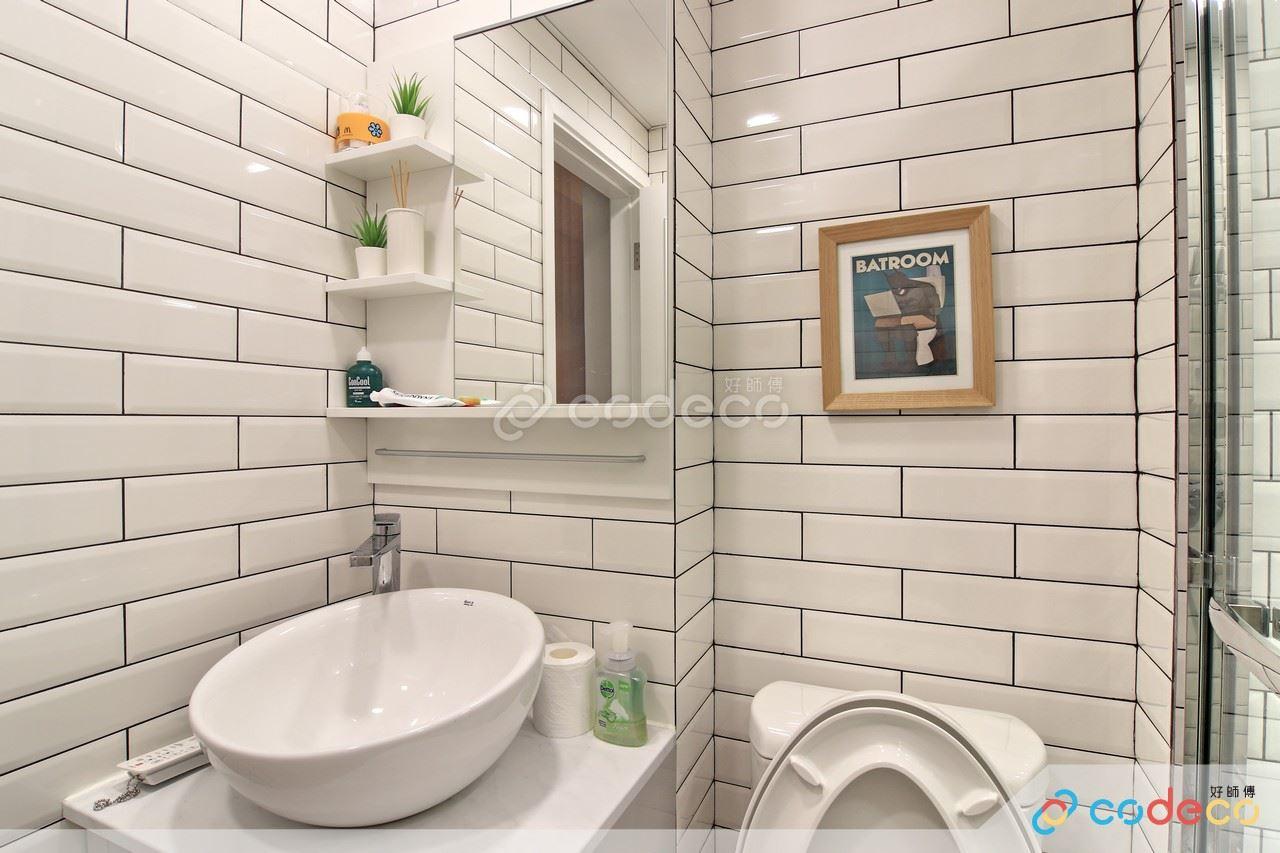 加州花園浴室麵包磚案例