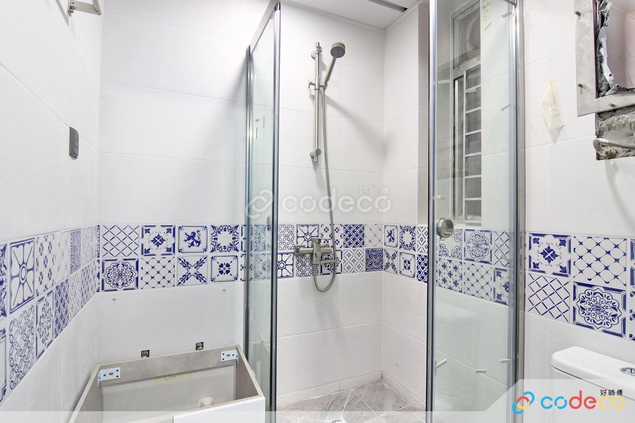 新屯門中心浴室葡萄牙花磚案例