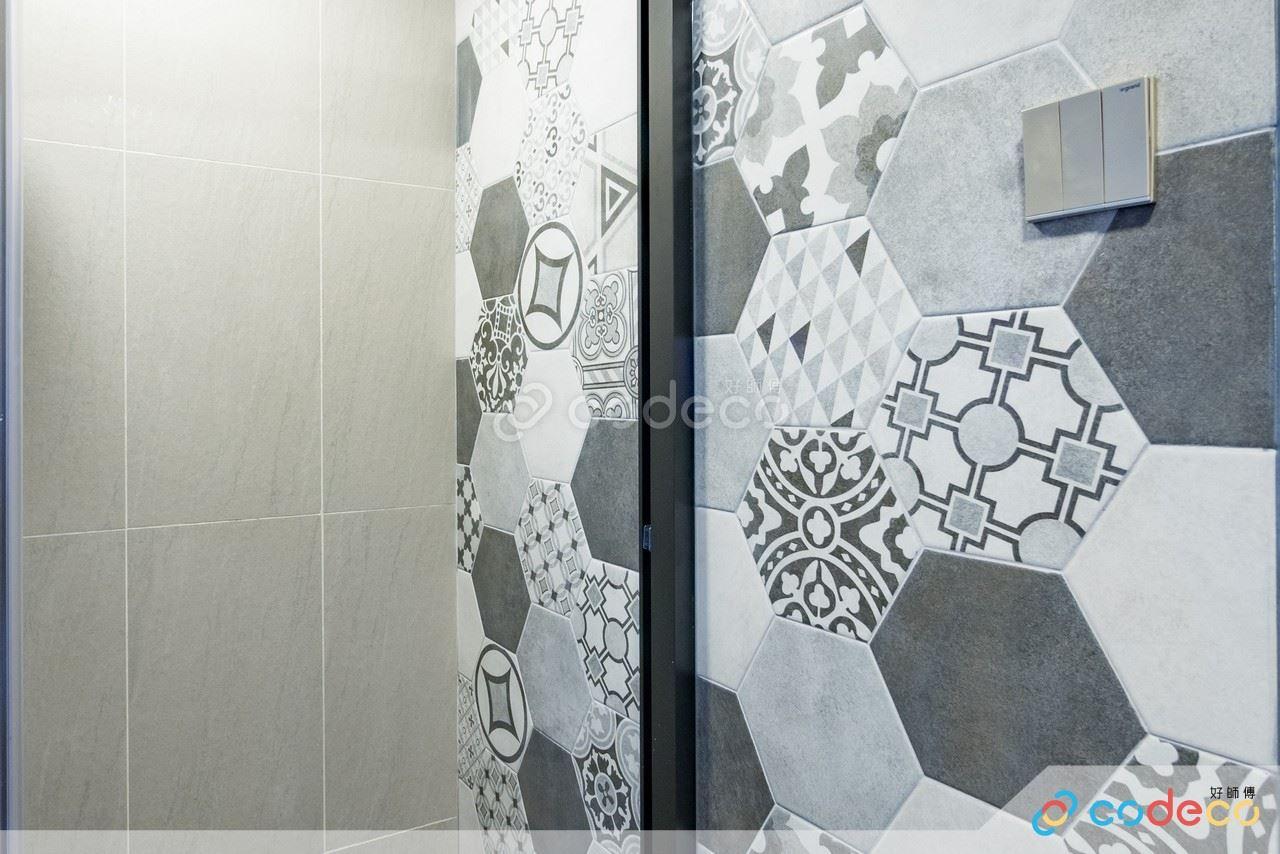 第一城浴室六角形磚案例