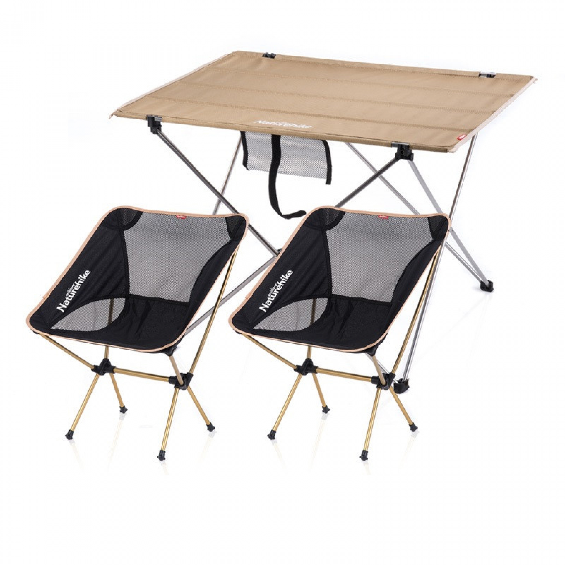 - Naturehike Aluminun Alloy Folding Table Moon Chair Set - HyperAir
