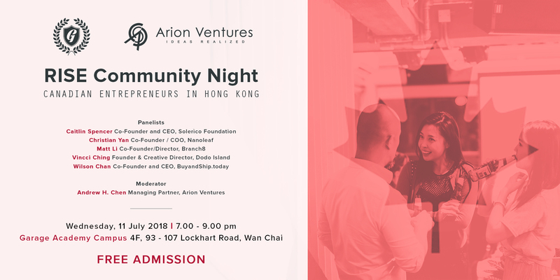 2018 rise community night canadian entrepreneurs