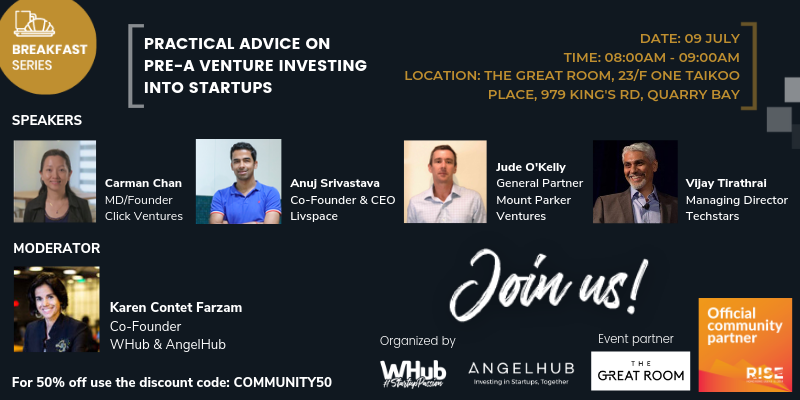 RISE Breakfast Series - Practical Advice on Pre-A Venture Investing into Startups