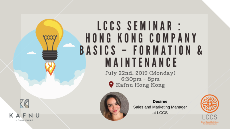 Lccs seminar   hong kong company basics   formation   maintenance  2
