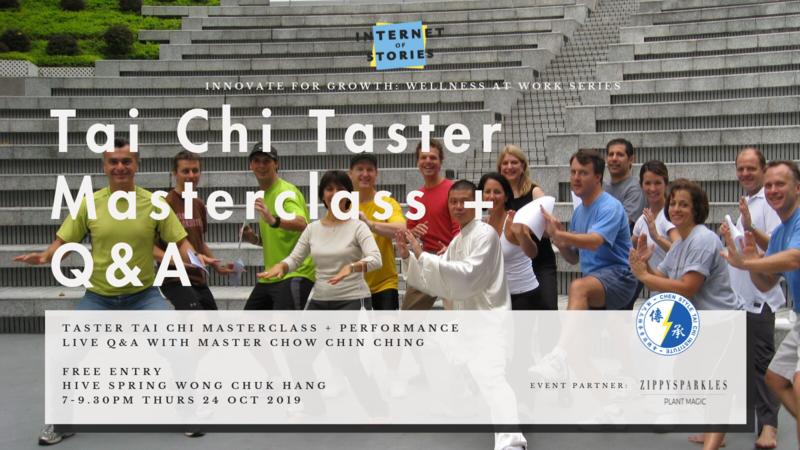 Tai chi taster masterclass   live q a 2