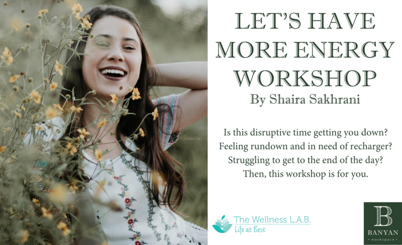 Let s have more energy workshop