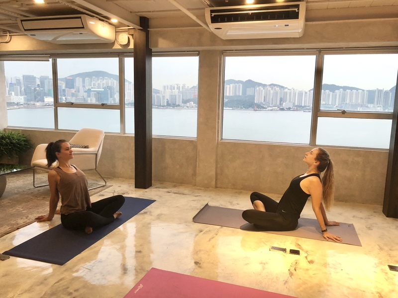 Hatha yoga at banyan workspace