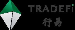 Large tradefi logo white