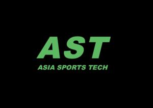 Large ast logo green on black background