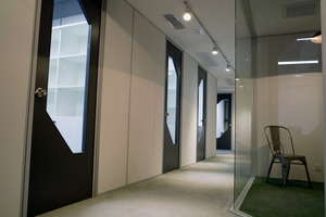 Corridor left and small conference room