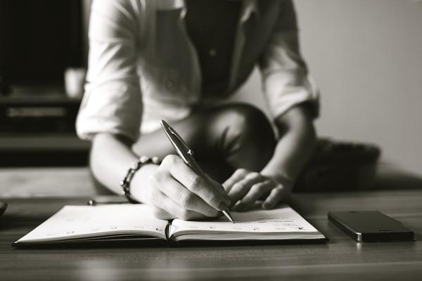 Lady writting