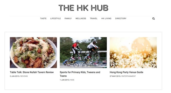 Hub new site screenshot