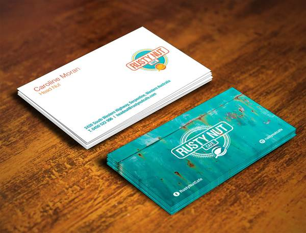 Rustynut businesscard final mockup