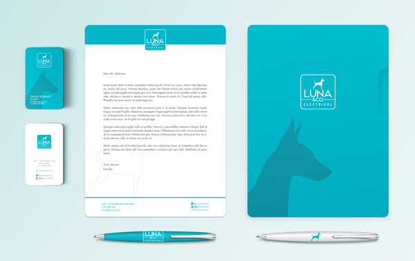 Luna stationary mockup