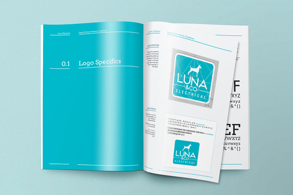 Luna co brand guidelines manual in