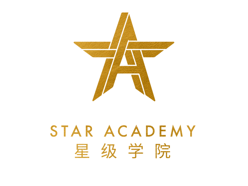 Star academy logo gold