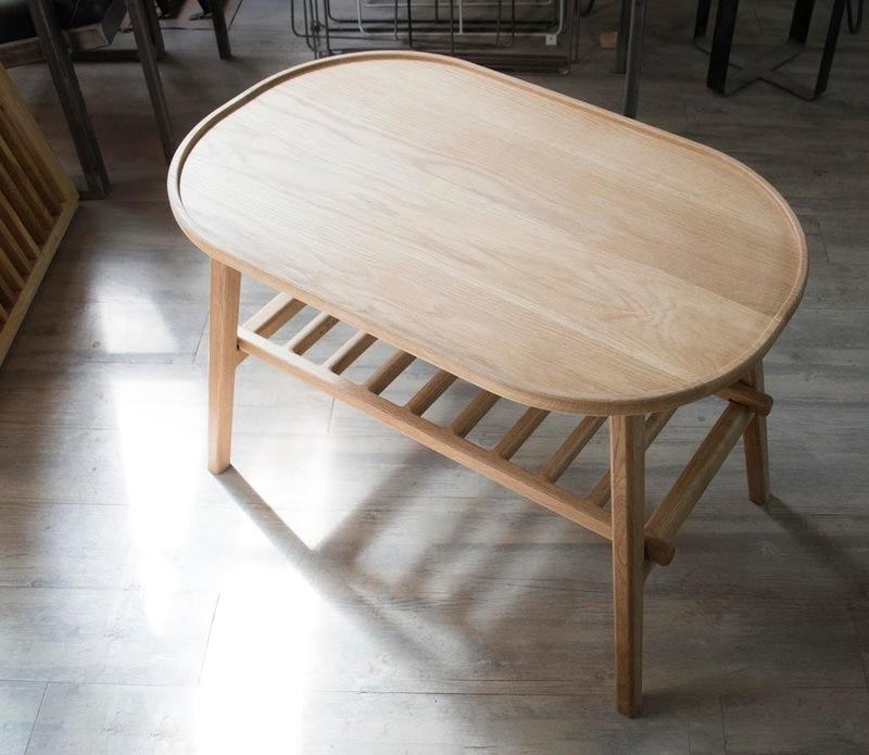 White oak folding coffee table 2