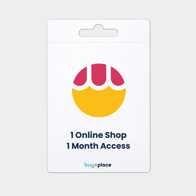 Store with online shop 1 month access