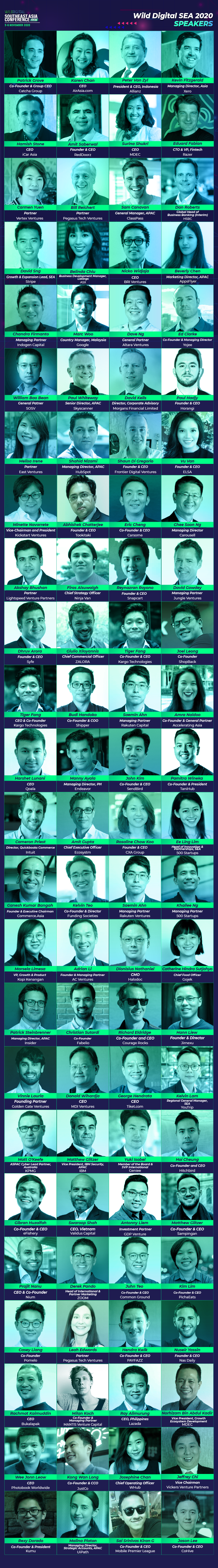 Speaker lineup for WD SEA 2020
